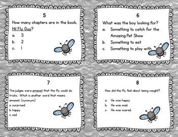Hi! Fly Guy Task Cards! (Reading Comprehension)