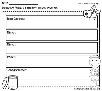 Hi! Fly Guy aligned with Journeys First Grade Unit 6 Lesson 29
