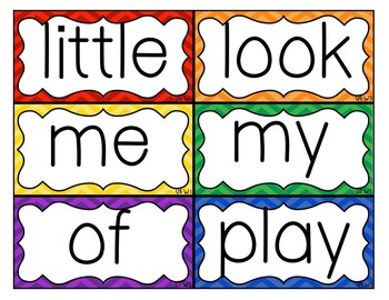Hi-Frequency Word Cards & Letters (Wonders)