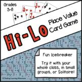 Place Value Game: Hi-Lo