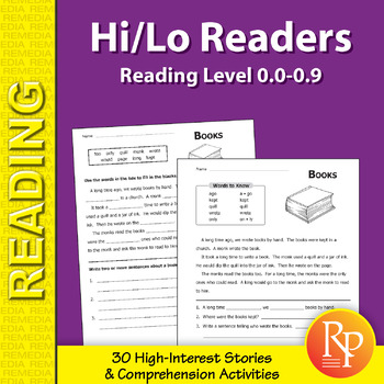 Hi/Lo Readers: Stories & Activities (Reading Level 0.0-0.9)