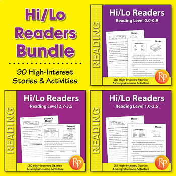 Hi/Lo Readers: Stories & Comprehension Activities {Bundle}