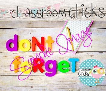 Don't Forget Letters Image_48: Hi Res Images for Bloggers & Teacherpreneurs