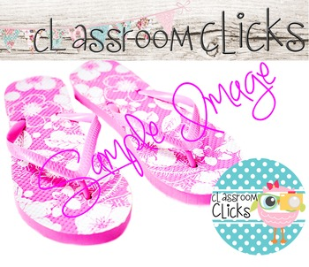 Pink Flip Flops Close-Up Image_74: Hi Res Images for Blogg