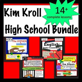 The High School Bundle-  Language Arts Lessons, PPTs & More!