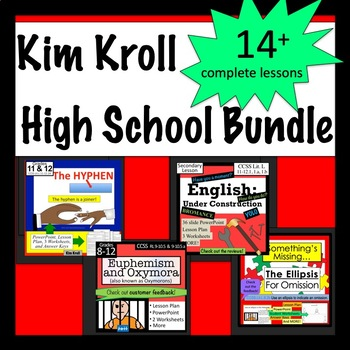 The High School Bundle-  Language Arts Lessons, PPTs & More!