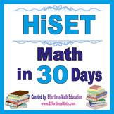 HiSET Math in 30 Days + 2 full-length HiSET Math practice tests