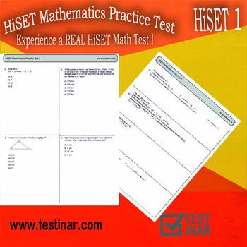 HiSET Mathematics Practice Test - 1