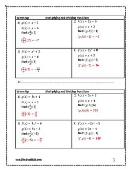 HiSET Mathematics Prep: Multiplying and Dividing Functions