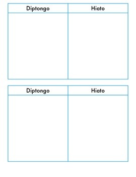 Hiato-Diptongo Sort 2