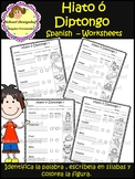 Hiato ó Diptongo Worksheets / Spanish / Hiatus or Diphthon