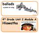 ReadyGen Hiawatha Word Wall / Vocabulary Cards 4th Grade Native Americans