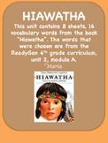 ReadyGen Hiawatha Word Wall / Vocabulary Cards 4th Grade N