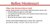 Hibernate Nomenclature Cards
