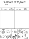 Hibernate? Or Migrate?  sorting worksheet--{FREEBIE!!}