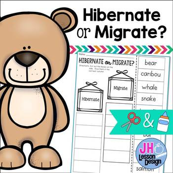 Hibernate or Migrate? Cut and Paste Sorting Activity