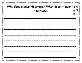 Hibernate/Hibernar writing paper in English and Spanish