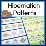 Hibernating Animal Patterns Math Center with AB, ABC, AAB & ABB patterns