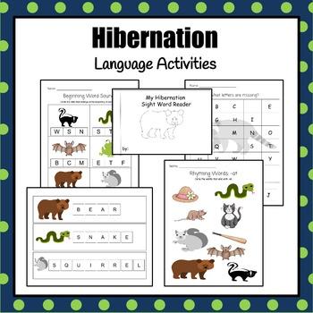Hibernating Animals - 21 activities for math and language