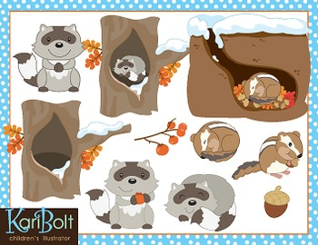 Hibernating Animals Clip Art