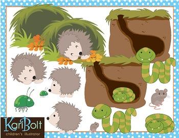 Hibernating Animals Clip Art by Kari Bolt Clip Art   TpT