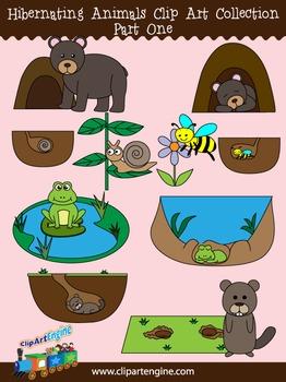 Hibernating Animals Clip Art Collection (Part 1)