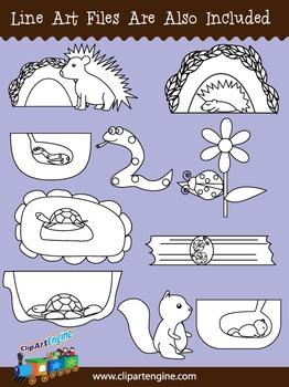 Hibernating Animals Clip Art Collection (Part 2)