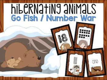 Hibernating Animals Number Card Game #0-20