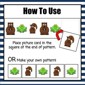 Patterns: Hibernating Animals Pattern Cards - option 1