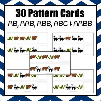 Patterns: Hibernating Animals Pattern Cards - option 2