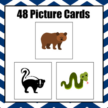 Patterns: Hibernating Animals Pattern Cards - option 2