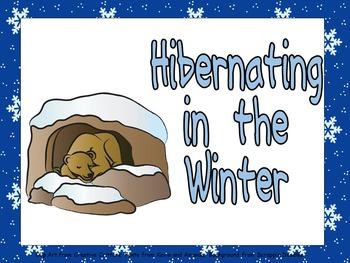 Hibernating Animals Shared Reading for Kindergarten- Winte