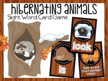 Hibernating Animals Sight Word Card Game
