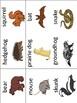 Hibernating Animals Vocabulary Cards and Mini Books BUNDLE