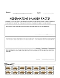Hibernating Math Facts Addition and Subtraction Cut and Pa