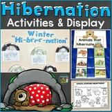 Hibernation Activities, Writing Prompts, Hibernating Bear