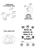 Hibernation Book for Kindergarten - one page fold to 4