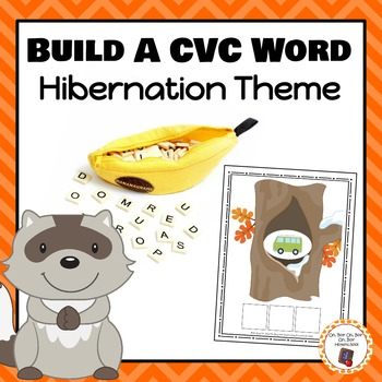 Hibernation Build a CVC Word Cards