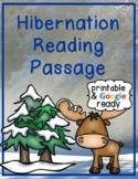Hibernation Close Reading Comprehension Passage and Questions