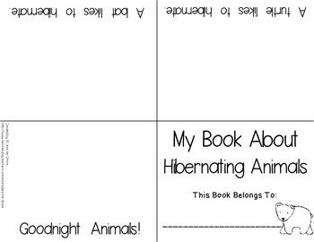 Hibernation Foldable Reader FREEBIE!  Super easy to use!  For K-1!