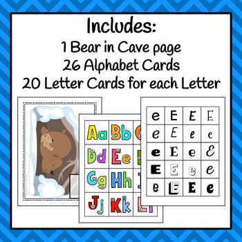 Hibernation Letter Sorting Activity