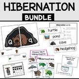 Hibernation Math and Literacy Activities BUNDLE