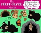 Hibernation & Migration {Digital Clip Art} Bears, Butterflies, Bats, Squirrels