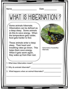 Hibernation Nonfiction Passages