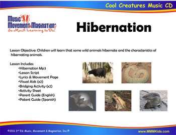 hibernation song mp3 visual aids and activities tpt. Black Bedroom Furniture Sets. Home Design Ideas