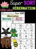 Hibernation Sorting - Little Lotus Super Sort Worksheets Activity