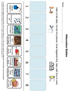 Hibernation Station Sequencing and Comprehension Packet