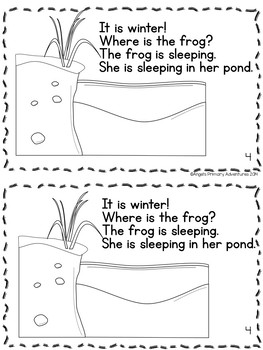 Animals in Winter Hibernation Themed Emergent Reader
