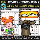 Hibernation and Migration Sorting Worksheets   Cut and Paste