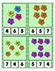 Hibiscus Math Center Clip Cards  Pre-K / Kindergarten / Daycare 0 to 20 Counting